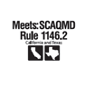 Complies with SCAQMD 1146.2 Ultra-Low NOx regulations