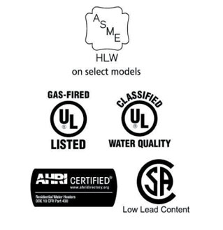 American 80% Thermal Efficiency Ultra-Low NOx Heavy Duty Commercial Gas Water Heater Certifications