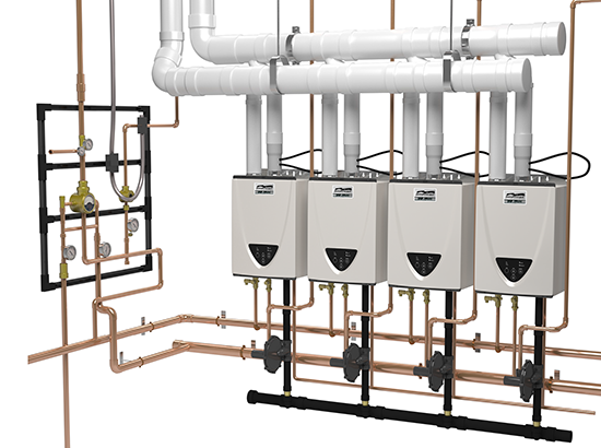 Commercial Tankless Rack Systems Common Venting