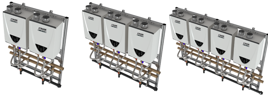 Commercial Tankless Wall Mount Rack Systems